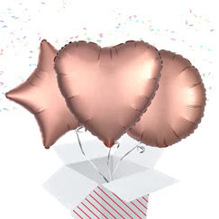 Rose Gold Balloon In A Box