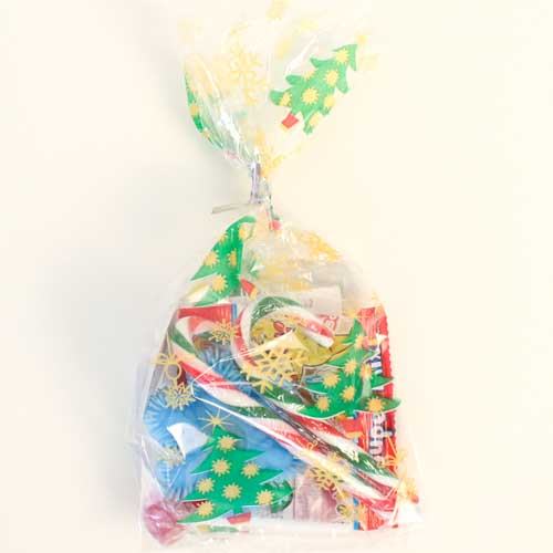 Sweet And Toy Golden Pre-Filled Christmas Gift Bag
