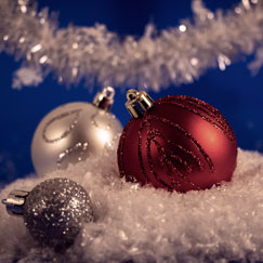 Christmas Tinsel & Baubles
