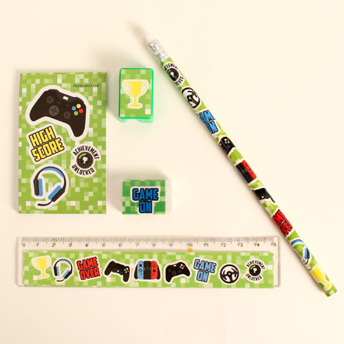 Assorted Gamer Stationery Favor Set Product Gallery Image