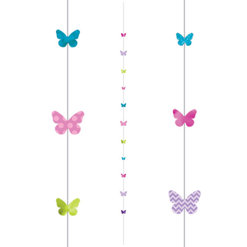 Butterflies Fun String Balloon Tail 182cm