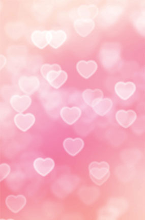 Hearts Pink Design Large PVC Cake Photography Backdrop 137cm x 90cm