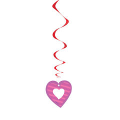 I Heart Valentine Swirl Hanging Decorations – Pack of 3