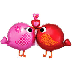 Love Birds Valentines Day Supershape Helium Foil Balloon 96cm / 38Inch