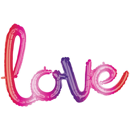 Love Ombre Phrase Valentines Day Supershape Air-Filled Foil Balloon 78cm / 31Inch