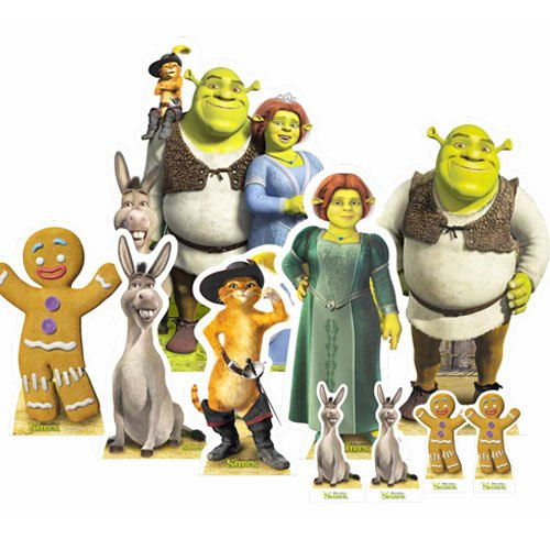 Shrek Table Top Cutout Decorations - Pack of 10 Gallery Image