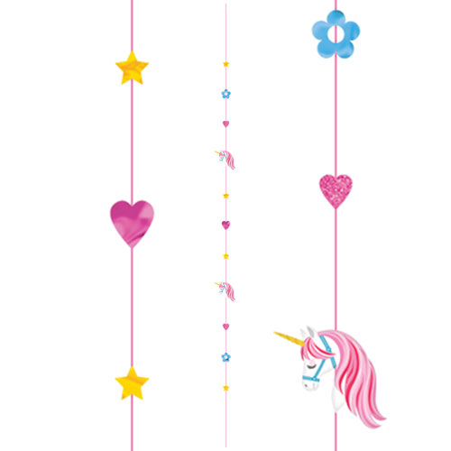 Unicorn Fun String Balloon Tail 182cm