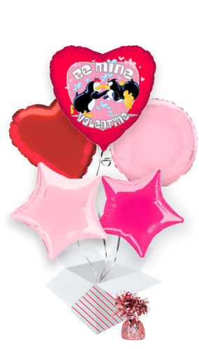 be-mine-valentine-penguins-balloon-bouquet-5-inflated-balloons-in-a-box-product-image