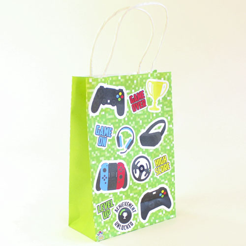 Gamer Party Paper Bag With Handles 21cm