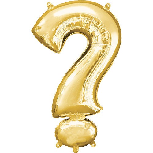 Gold Question Mark Symbol Air-Filled Foil Balloon 40cm / 16Inch