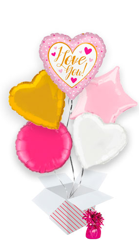 i-love-you-gold-and-pink-valentine's-day-balloon-bouquet-5-inflated-balloons-in-a-box-product-image