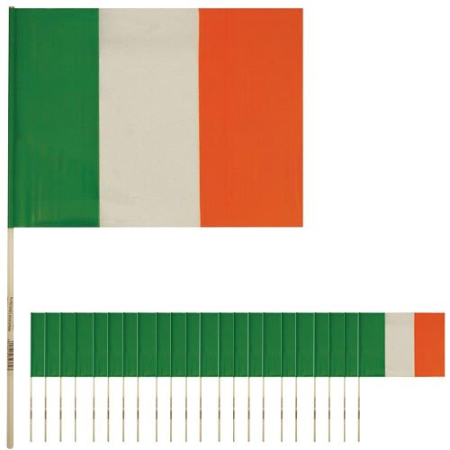 Ireland Hand-Held Plastic Flags 39cm - Pack of 50