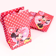 Minnie Mouse Paper Party Bags With Sticker Closure – Pack of 6