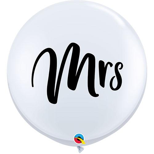 Mrs White Jumbo Round Latex Balloons 91cm / 36Inch - Pack of 2