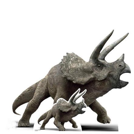 Official Jurassic World Triceratops Dinosaur Lifesize Cardboard Cutout 96cm Product Image