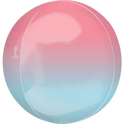 Ombre Red And Blue Orbz Foil Helium Balloon 38cm / 15Inch