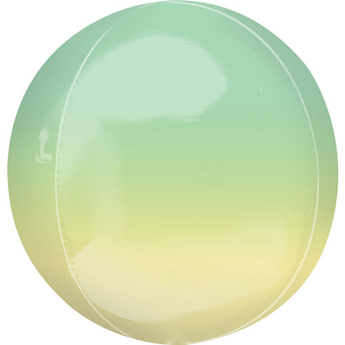 Ombre Yellow And Green Orbz Foil Helium Balloon 38cm / 15Inch
