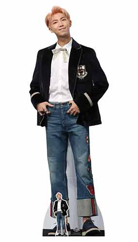 RM BTS Kim Nam-joon Rap Monster Blue Jeans Lifesize Cardboard Cutout 180cm Product Gallery Image