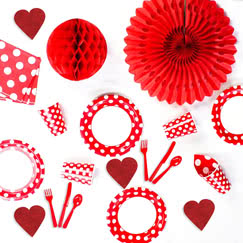 Ruby Red Decorative Dots