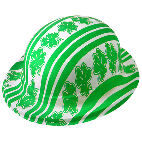 St Patricks Day Shamrock Plastic Bowler Hat