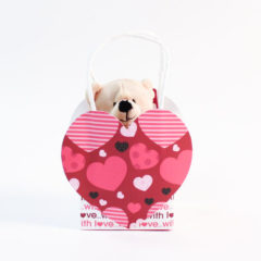 Valentines Soft Cuddly Toy Bear In Gift Bag 14cm