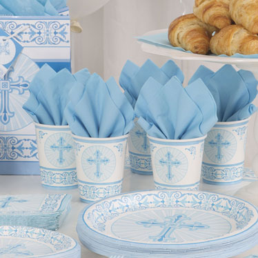 Radiant Cross Blue Party Supplies
