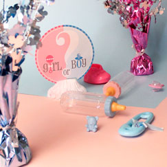 Gender Reveal Table Decorations