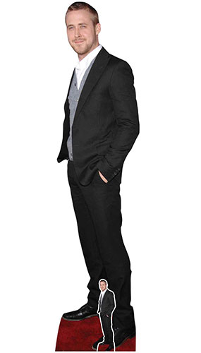Ryan Gosling Black Suit Lifesize Cardboard Cutout 185cm Product Gallery Image