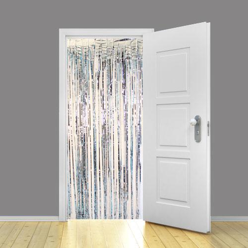 Silver Metallic Shimmer Curtain 95cm x 200cm