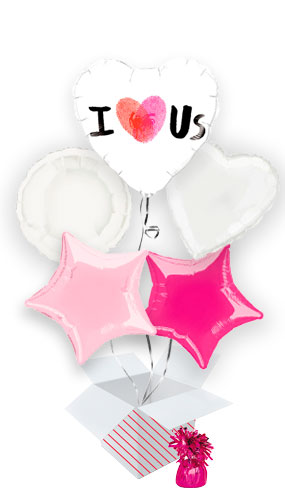 thumbprint-i-heart-us-valentine's-day-balloon-bouquet-5-inflated-balloons-in-a-box-product-image