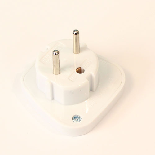 White UK To Europe Travel Plug Adapter Product Gallery Image