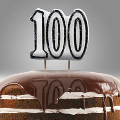 100th Birthday Party Candles