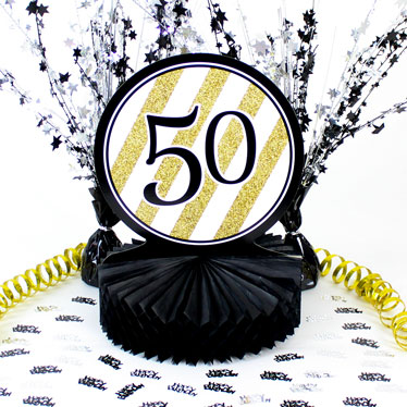50th Birthday Table Decorations