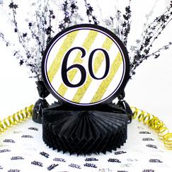 60th Birthday Table Decorations
