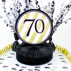 70th Birthday Table Decorations