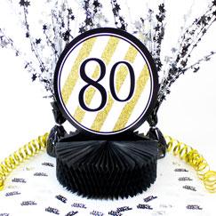 80th Birthday Table Decorations
