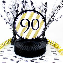 90th Birthday Table Decorations