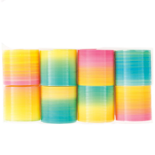 Assorted Rainbow Spring Round Shapes - Pack of 8
