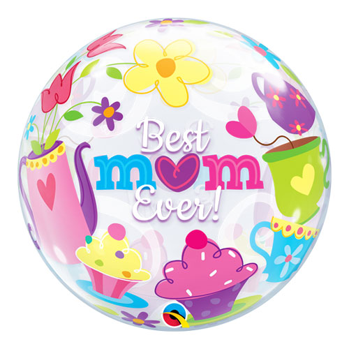 Best Mum Ever Bubble Helium Qualatex Balloon 56cm / 22 Inch Product Image
