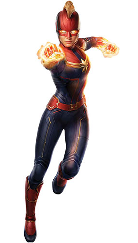 Captain Marvel Photonic Blasts Brie Larson Star Mini Cardboard Cutout 89cm Product Gallery Image