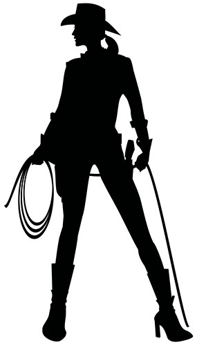 Cowgirl Silhouette PVC Lifesize Poster 182cm