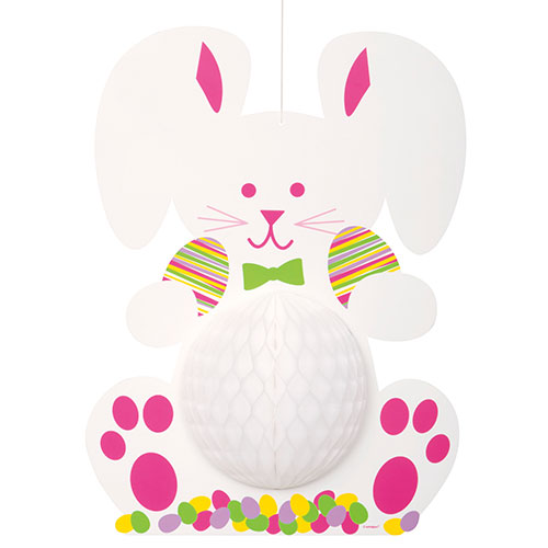 Easter Bunny Honeycomb Hanging Decoration 35cm