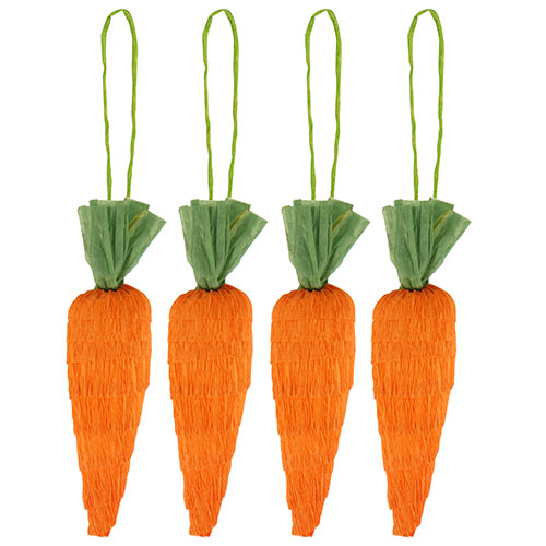 Easter Carrots Hanging Decorations 8cm - Pack of 4
