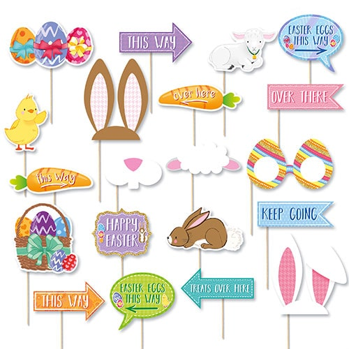 Easter Egg Hunt Party Props - Pack of 20