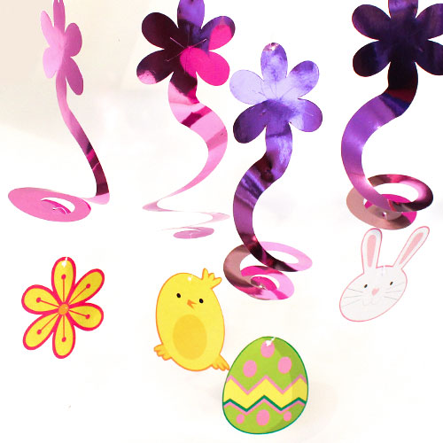 Easter Themed Hanging Swirls - Pack of 4