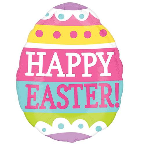 Happy Easter Egg Junior Shape Foil Helium Balloon 40cm / 16 Inch
