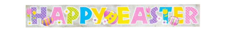 Happy Easter Foil Banner 274cm