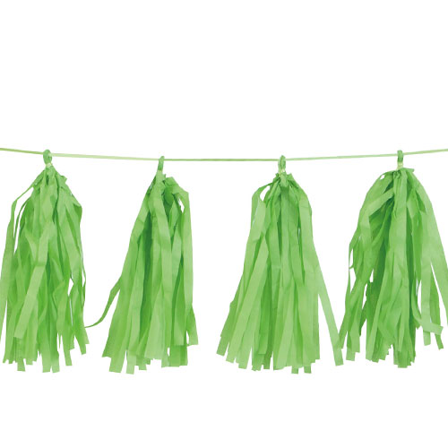Lime Green Tissue Tassel Garland 274cm Product Image