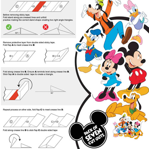 Mickey Mouse And Friends Table Top Cutout Decorations - Pack of 7 Gallery Image