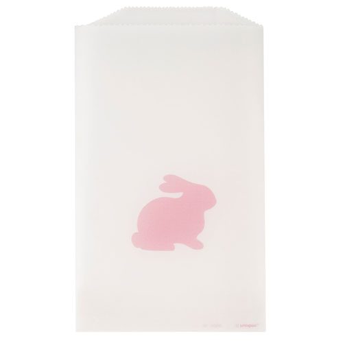Pink Bunny Easter Glassine Paper Treat Bags - Pack of 8